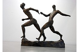 "Gerhard Marcks (1889-1981 ) "" Kleine Staffelläufer"" Bronze, 1956 Signum, Guss 5 Gießerei Barth, Berlin. Rudloff 651 H. 37 x B. 42 cm 12.000 €"