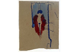 "Karl Bohrmann, "" Akt im roten Mantel im Raum "", Ölkreide und Aquarell auf Papier, Rücks. Nachlaßstempel, 17,2 x 13,5 cm, 2.800 €"