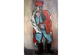 """Helmut Kolle """"Pfeife rauchender Spahi""""   Öl auf Leinwand, 1925,  175 x 105 cm, Preis auf Anfrage  , Preis auf Anfrage"""