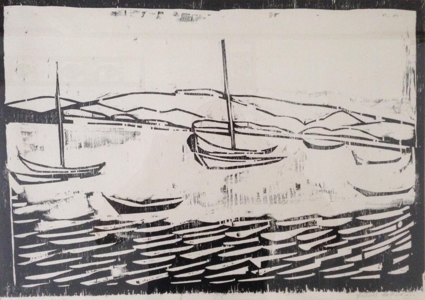 Boote im Wattenmeer